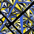 Stained Glass -- Blue and Yellow by Clare Wuellner