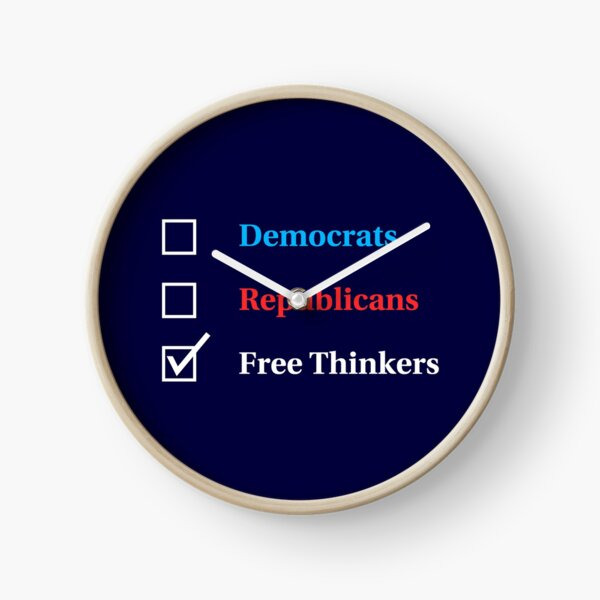 Election Ballot - Free Thinkers for Dark T's Clock