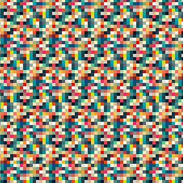 Georetro - Square Colourful Pattern by mongolife