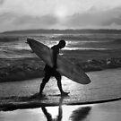 Hawaiian Surfer Heading Home by Catherine Sherman