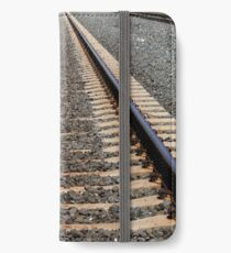 Old Train Tracks in the Summer iPhone Wallet/Case/Skin