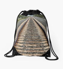 Old Train Tracks in the Summer Drawstring Bag