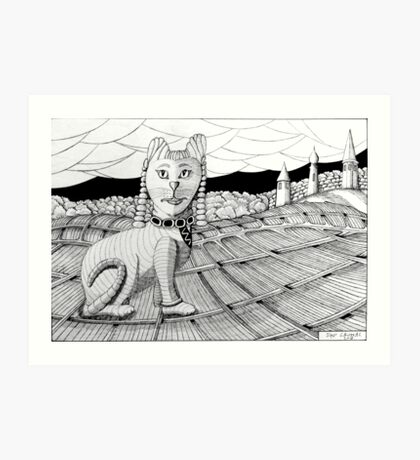 274 - CLEOCATRA - DAVE EDWARDS - INK - 2018 Art Print