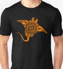 Maori Stingray Tattoo Tribal Swimming Orange - Gift Idea Unisex T-Shirt