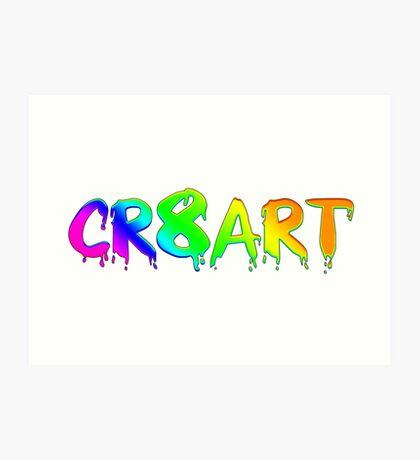 Create Art! - Rainbow colors on white Art Print