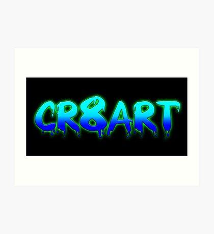 Create Art! - Turquoise and Blue on Black Art Print