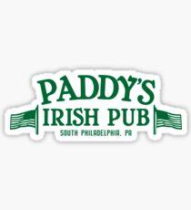 Paddy's Irish Pub Logo Sticker