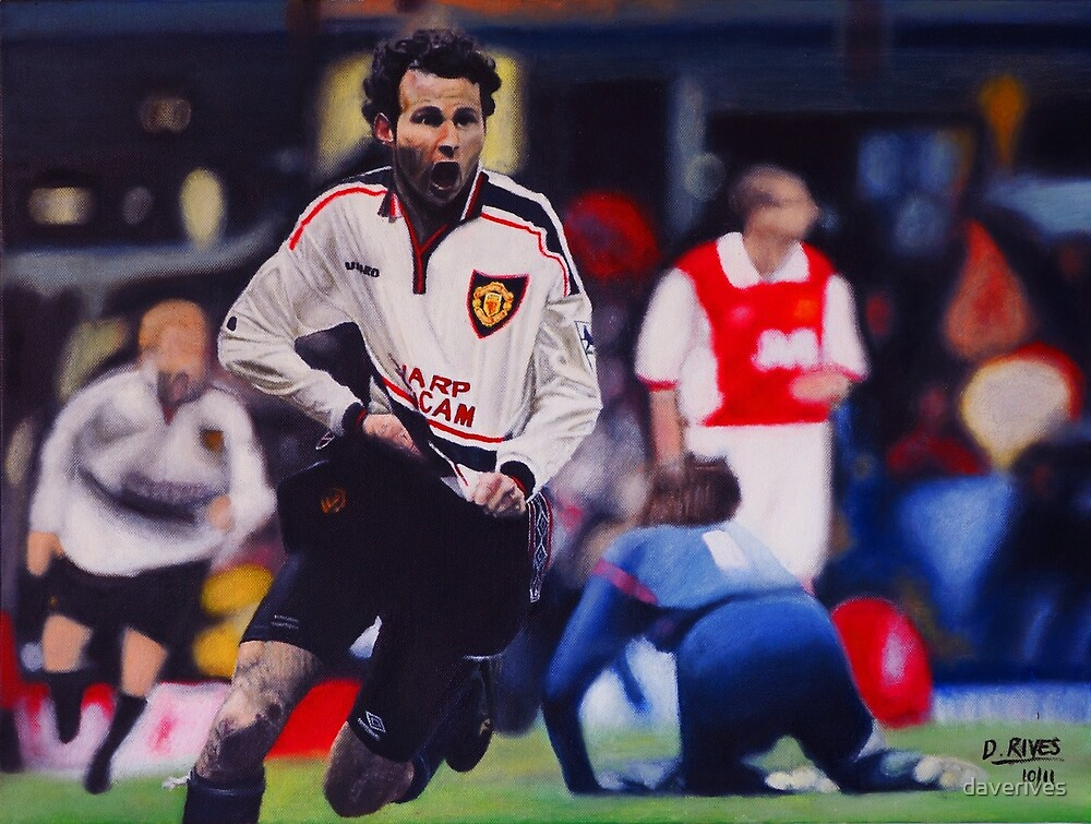 Giggs goal v Arsenal Oil on Canvas by daverives
