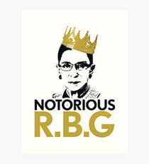 Notorious RBG Art Print