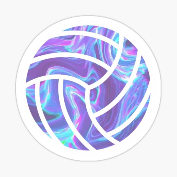 Holographic Volleyball Sticker