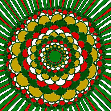 Christmas Mandala by CTWuellner