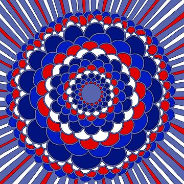 Happy 4th of July Mandala by CTWuellner