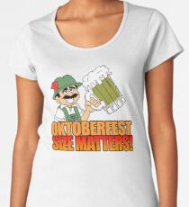 Oktoberfest Size Matters German Beer Cartoon Women's Premium T-Shirt