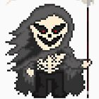 Pixel Monster Grim Reaper (on White) by gkillerb