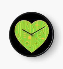 Circuitboard Valentine Clock