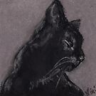 Pretty Kitty (pastel) by Niki Hilsabeck