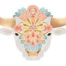 Flower Bull 2 by Elisabeth Fredriksson