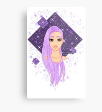 purple hair Metal Print