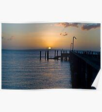 Sunset over the pier 2 Poster