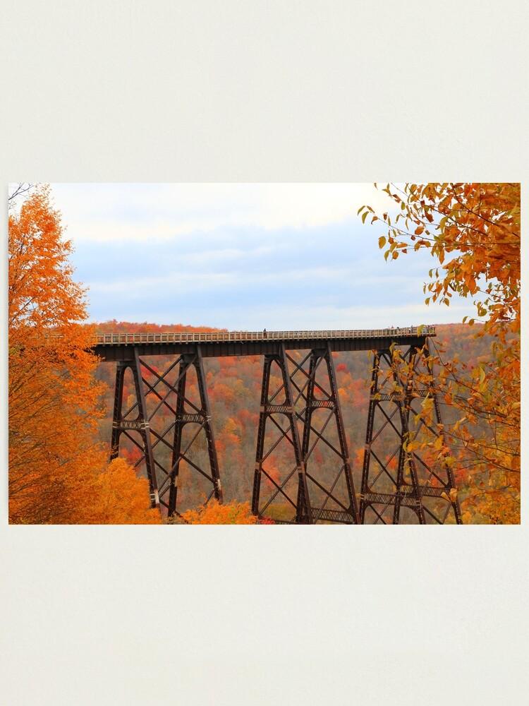 Alternate view of Picturesque Autumn at Kinzua Bridge Photographic Print