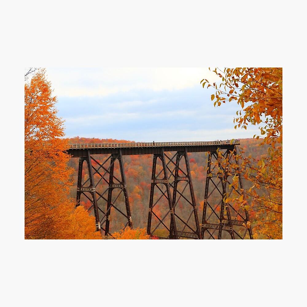 Autumn at Kinzua Bridge Photographic Print