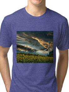 Sunfllower field II Tri-blend T-Shirt