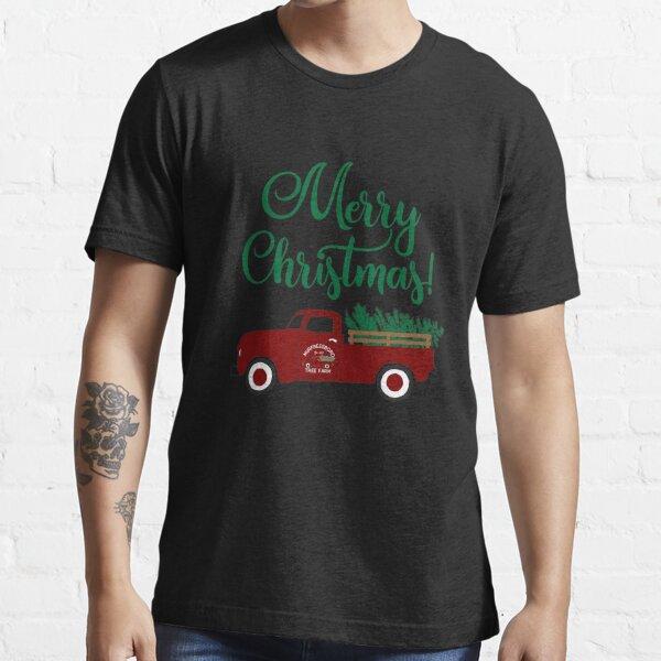 Merry Christmas - Vintage Pickup Truck Hauling Christmas Tree Retro Essential T-Shirt