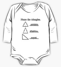 Name The Triangles One Piece - Long Sleeve