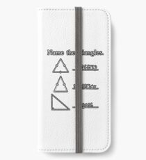 Name The Triangles iPhone Wallet/Case/Skin