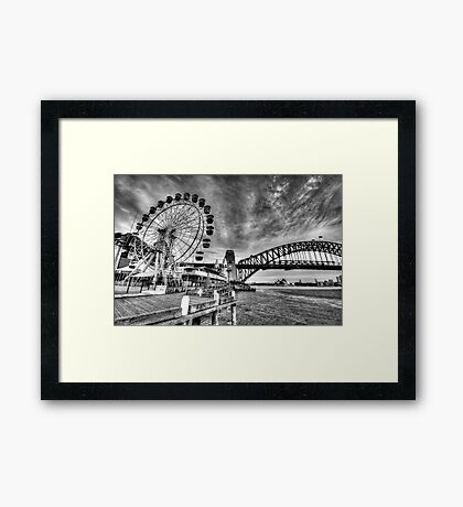 Sydney Harbour - A Study In Black and White - The HDR Experience Framed Print