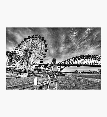 Sydney Harbour - A Study In Black and White - The HDR Experience Photographic Print