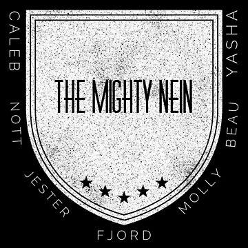 The Mighty Nein Shield Logo- Frost by JMendezArt