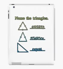 Name The Triangles iPad Case/Skin