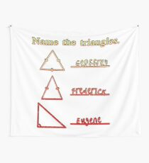 Name The Triangles Wall Tapestry