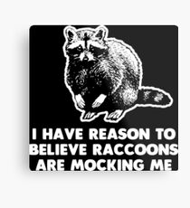 I Have Reason To Believe Raccoons Are Mocking Me Metal Print