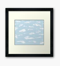 Sky clouds. Framed Print