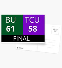 Baylor TCU Scoreboard Postcards