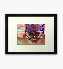 Underwater  Fun Framed Print