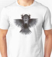Strange Hummingbird A1. Black on white background. Unisex T-Shirt