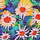 WHIMSICAL DAISIES  by WhiteDove Studio kj gordon