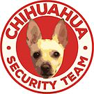 Chihuahua Security Team Cute Dog Face Red Badge Design by PyramidPrintWrx