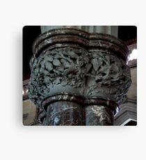 Carved Capital Canvas Print