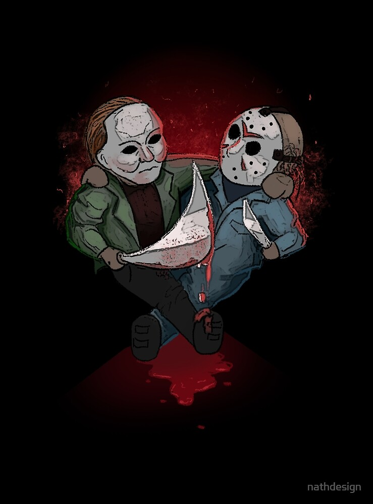 jason voorhees micheal myers bestie for halloween by nathdesign