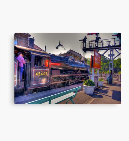 Beware  Lady Driver  at Grosmont Canvas Print