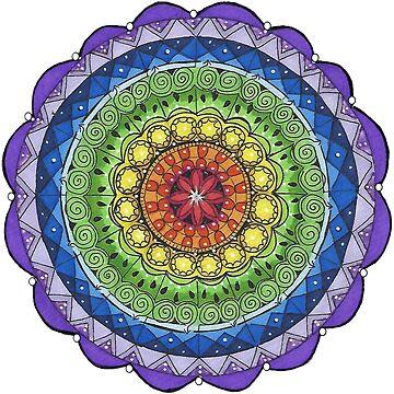 Colours of the Chakra Mandala by Hummingbirdnz