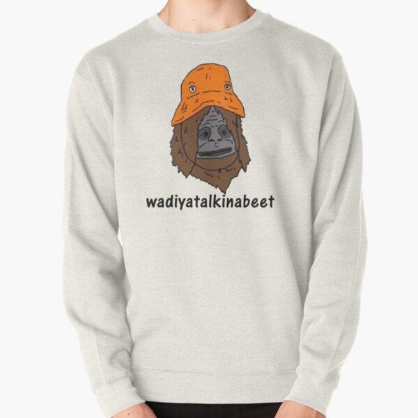 sassy wadiyatalkinabeet orange hat Pullover Sweatshirt