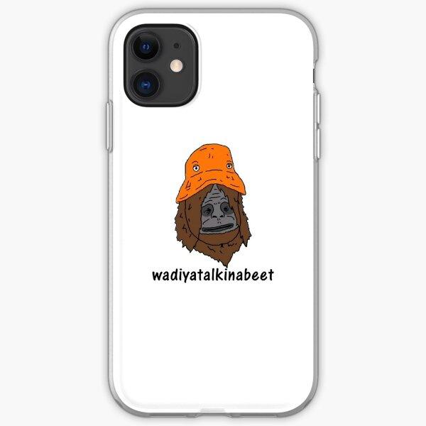 sassy wadiyatalkinabeet orange hat iPhone Soft Case
