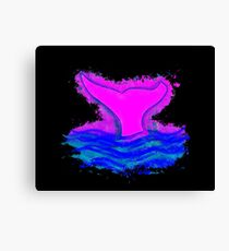 Fin ocean glowing Art Canvas Print
