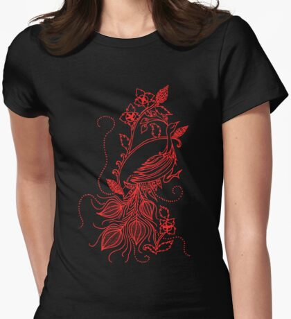 Red Tomatillo Peacock T-Shirt