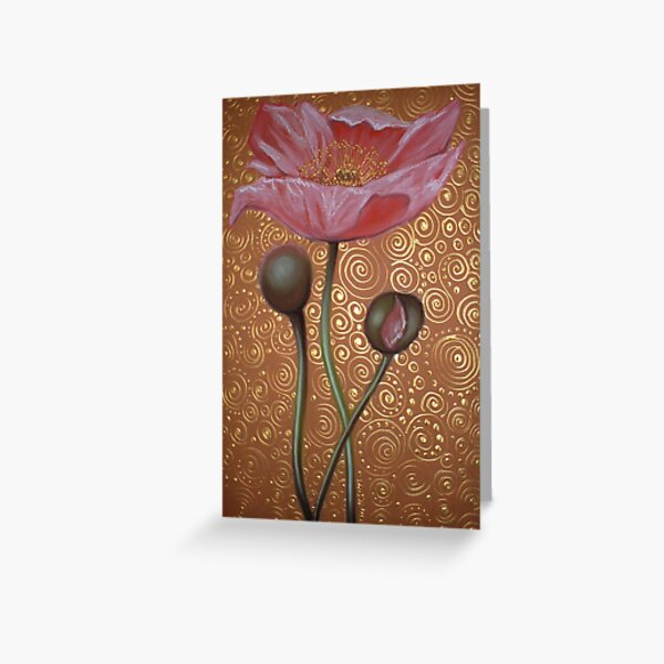 One Pink Poppy Greeting Card